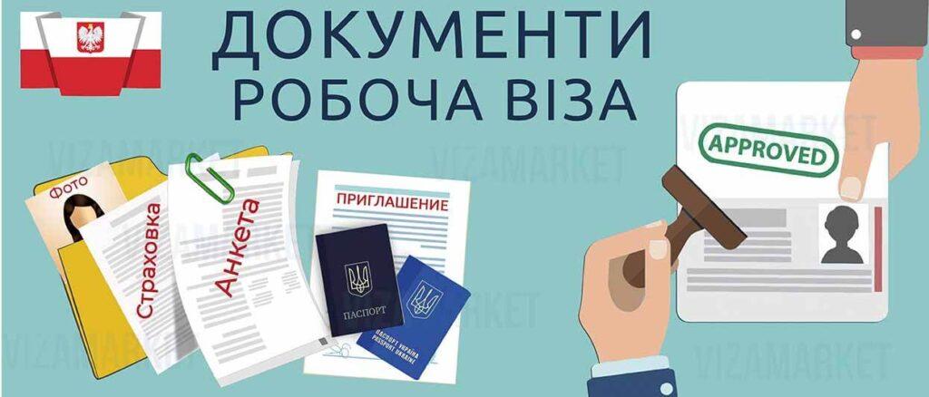 документи для робочої візи в Польщу фото