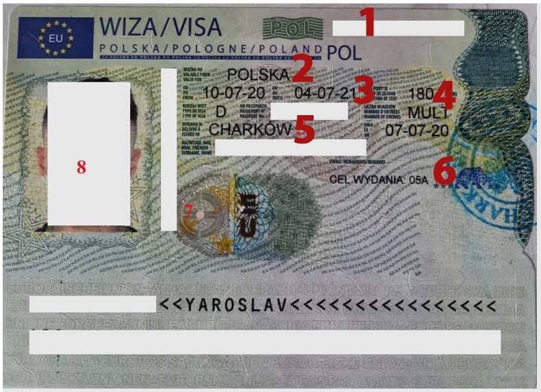 Как выглядит рабочая виза в Польшу