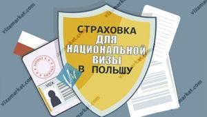 страховка для национальной визы, вся информация